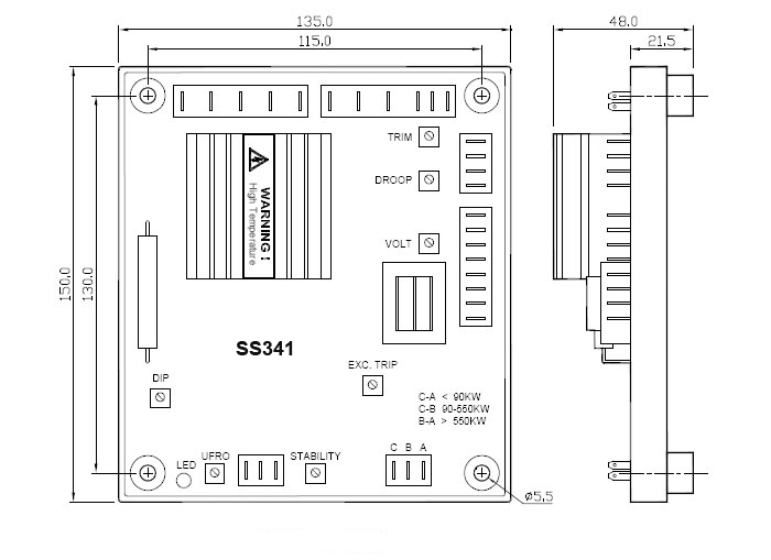 SS341-diion  Phase Generator Wiring Diagram With Pmg And Mx Avr on
